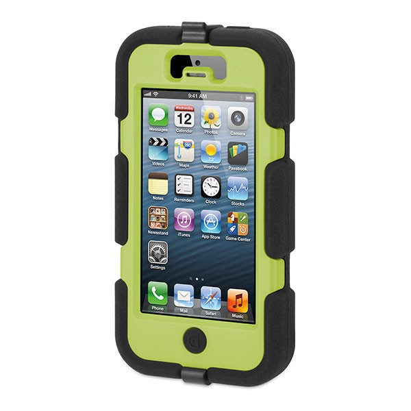 GRIFFIN - Survivor for iPhone 5/5s - Black/Citron