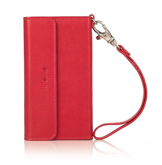 Knomo - Leather Folio Wristlet for iPhone 5/5s - Teaberry