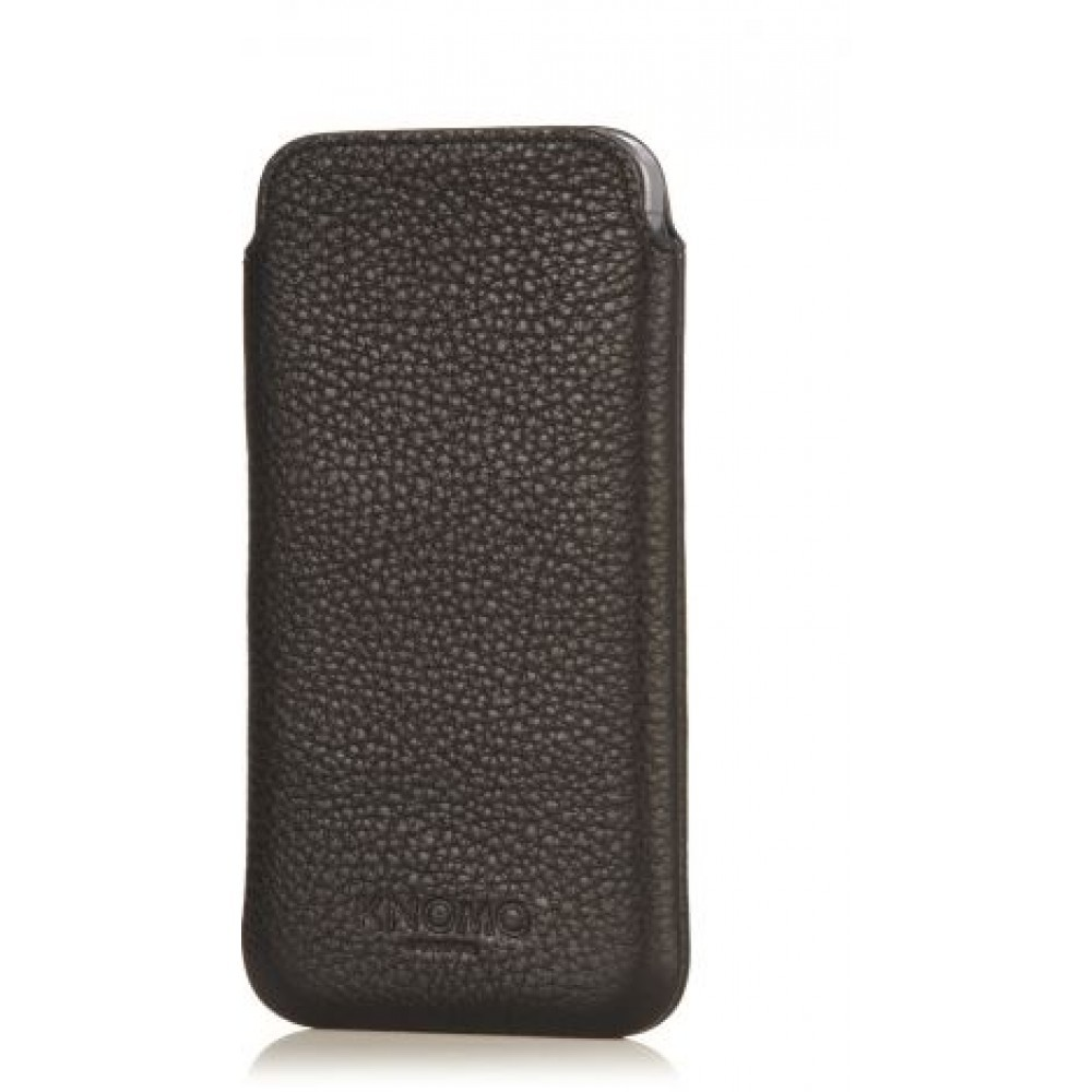 Knomo - Leather Slim Sleeve for iPhone 5c - Black